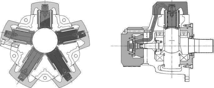 mr&mre径向柱塞式液压马达图片
